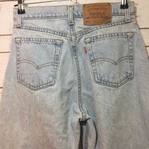 LEVI'S 550 loose fit straight leg white wash